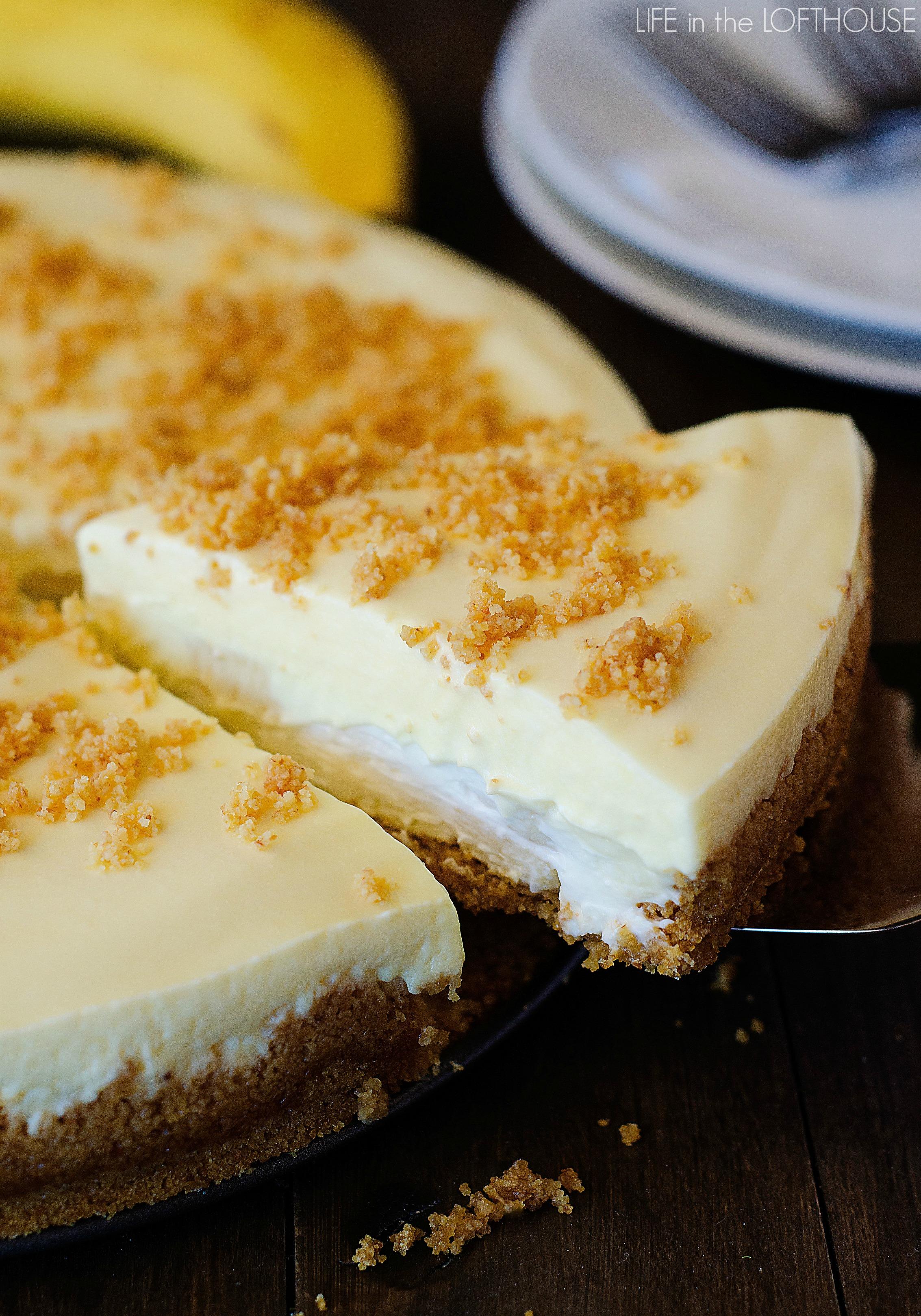Banana cream pie cheesecake life in the lofthouse for Life in the lofthouse