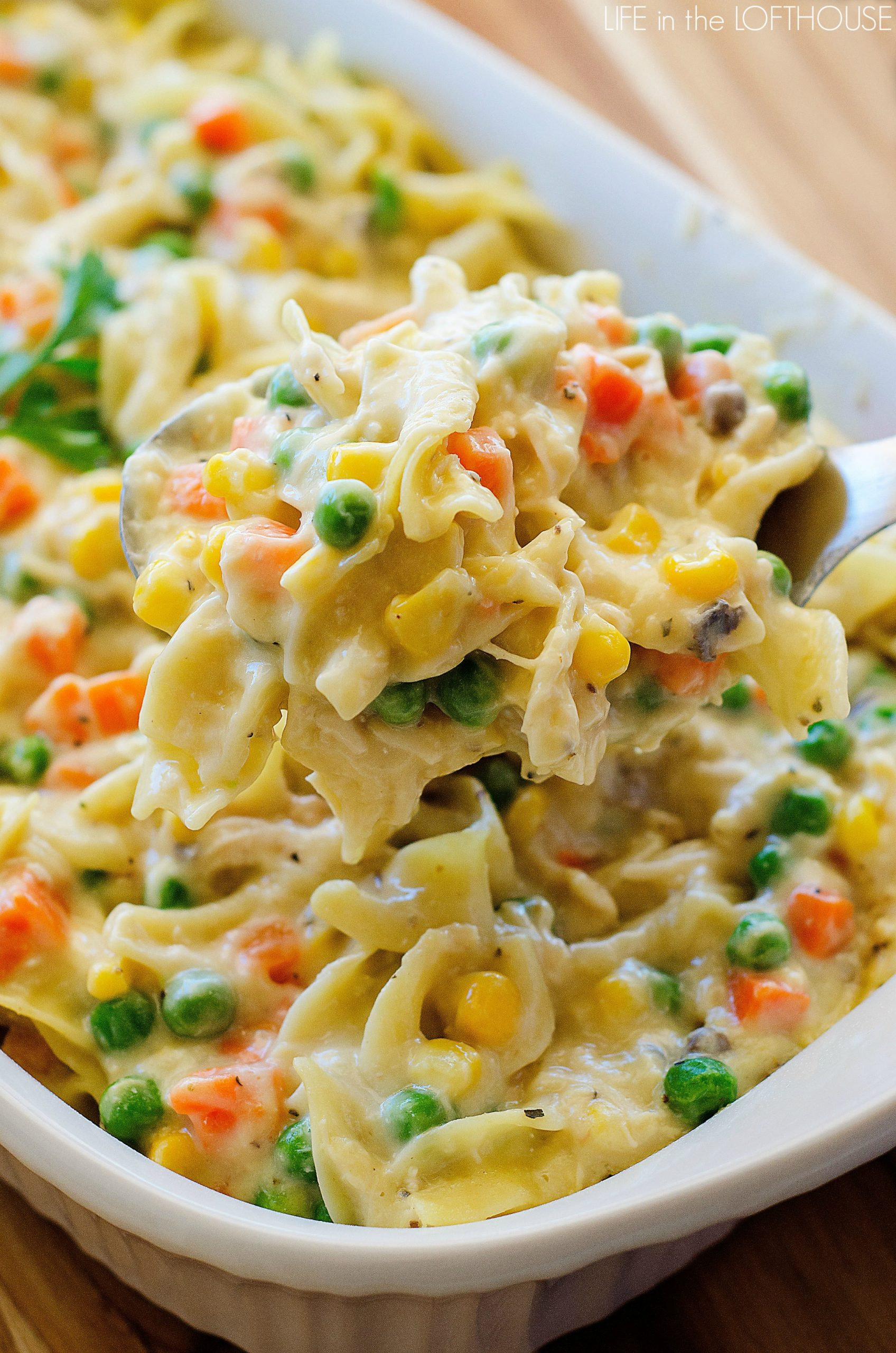 Chicken noodle casserole1 for Life in the lofthouse