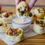 Philly Cheese Steak Crescent Pinwheels