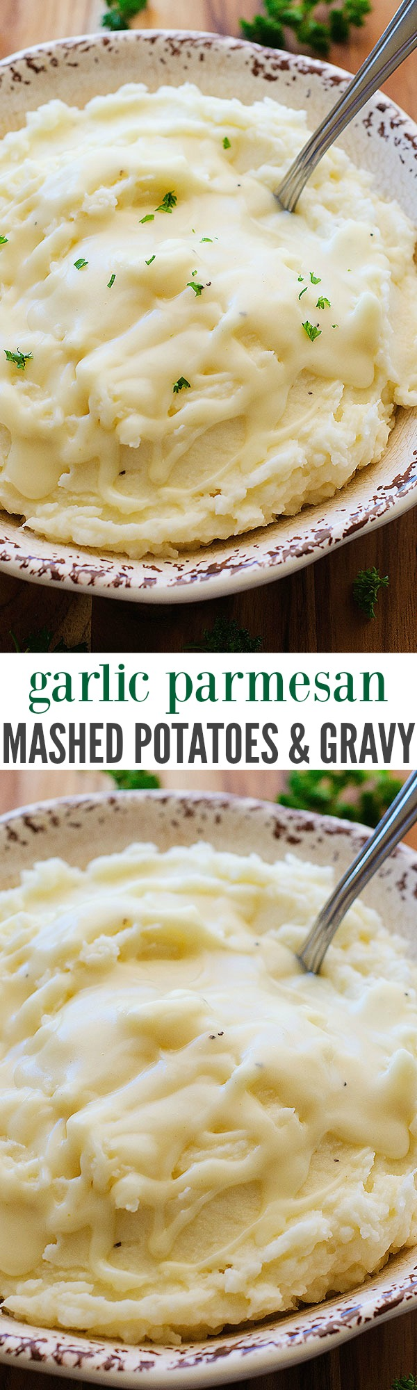 Garlic-Parmesan Mashed Potatoes Recipe — Dishmaps