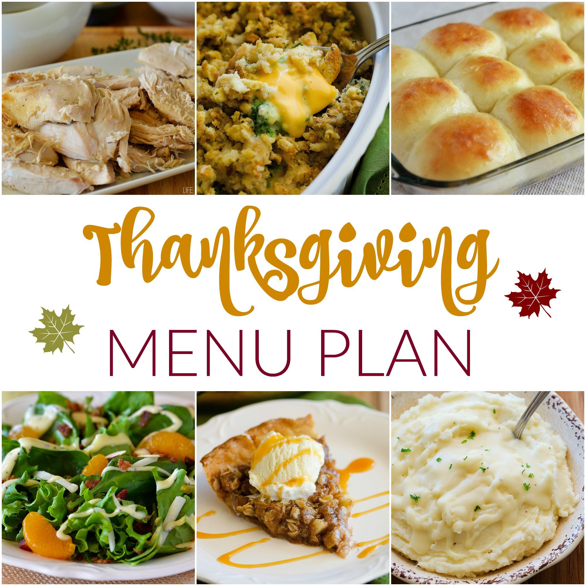 Thanksgiving~ Menu Plan Monday