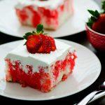 Strawberry Jello Poke Cake