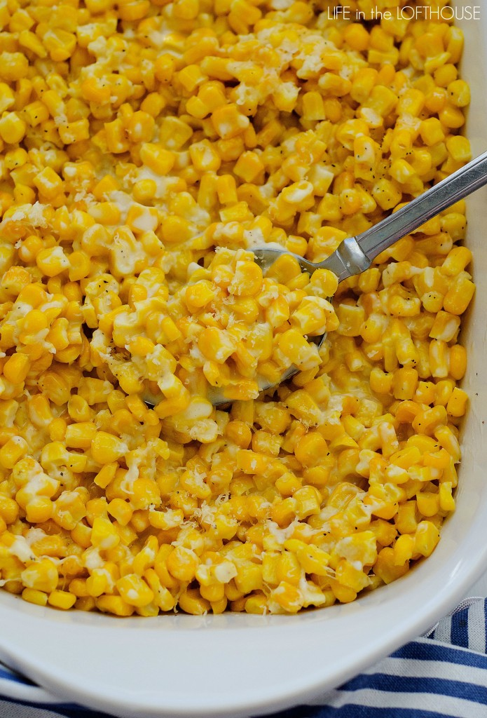 Parmesan Creamed Corn - Life In The Lofthouse