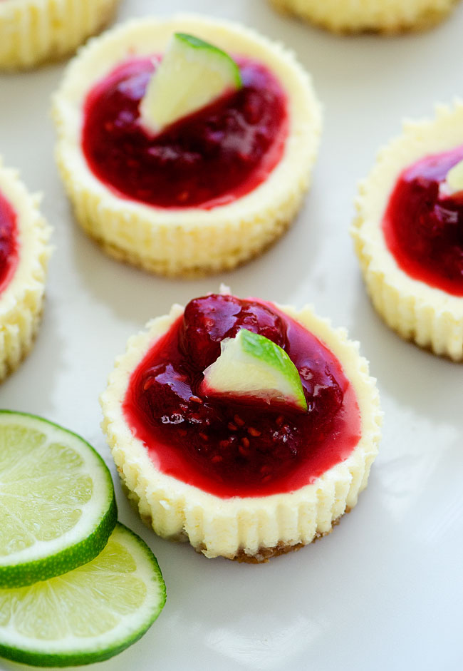 Mini-Lime-Cheesecakes-w-Raspberry-Sauce3