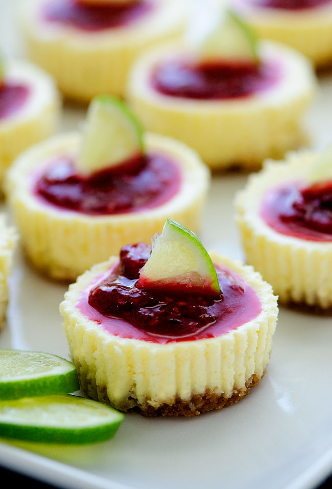 Mini-Lime-Cheesecakes-w-Raspberry-Sauce7