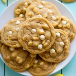 Delicious and super soft lemon cookies with white chocolate chips. Life-in-the-Lofthouse.com