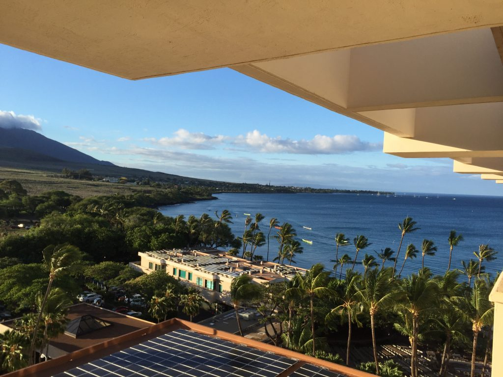 partial ocean view room at Hyatt Regency in Maui