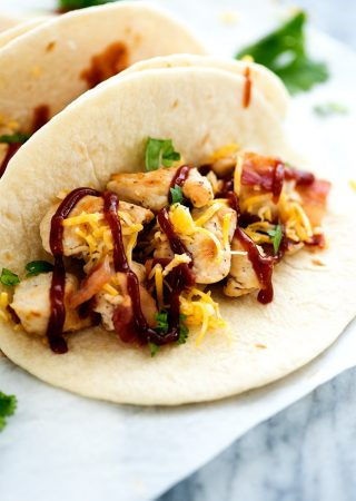 Barbecue Chicken Bacon Tacos