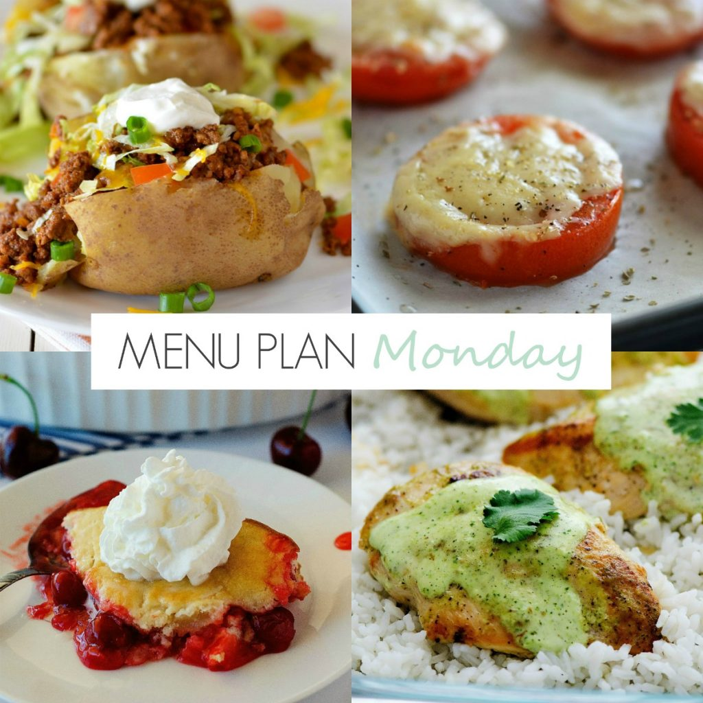 Taco Potatoes, Baked Tomatoes and more favorites on this week's menu!