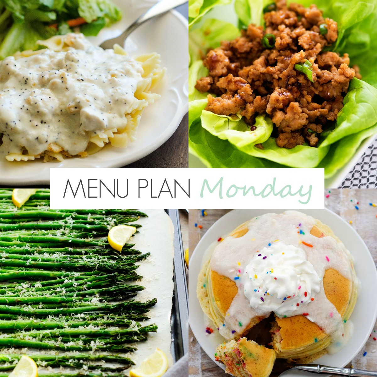 Lots of quick and easy recipes on this week's menu!