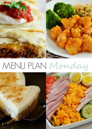Menu Plan Monday #151