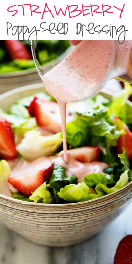 Delicious and creamy poppy seed dressing made with fresh strawberries. Life-in-the-Lofthouse.com