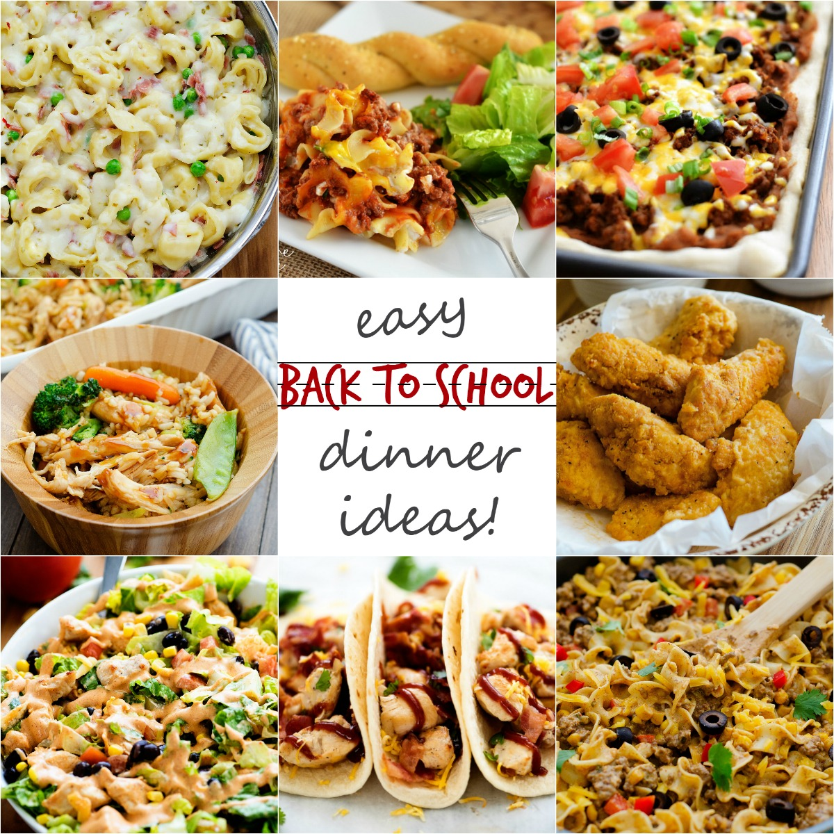Tons of easy, 30-minute meal ideas for back-to-school busy weeknights!