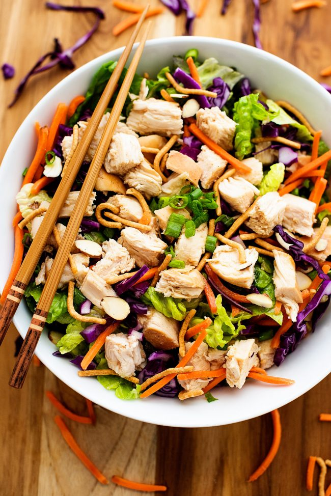Chinese Chicken Salad is loaded with veggies, grilled chicken and lots of flavor!