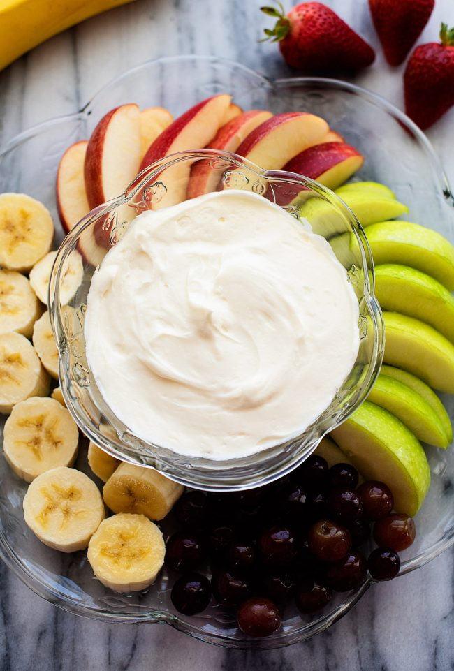 2 ingredient and so delicious fruit dip!