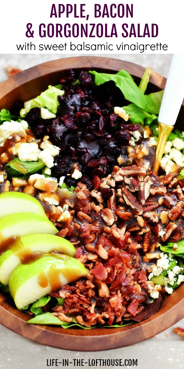 Apple Bacon Gorgonzola Salad