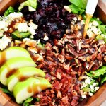 Apple Bacon & Gorgonzola Salad with Sweet Balsamic Vinaigrette