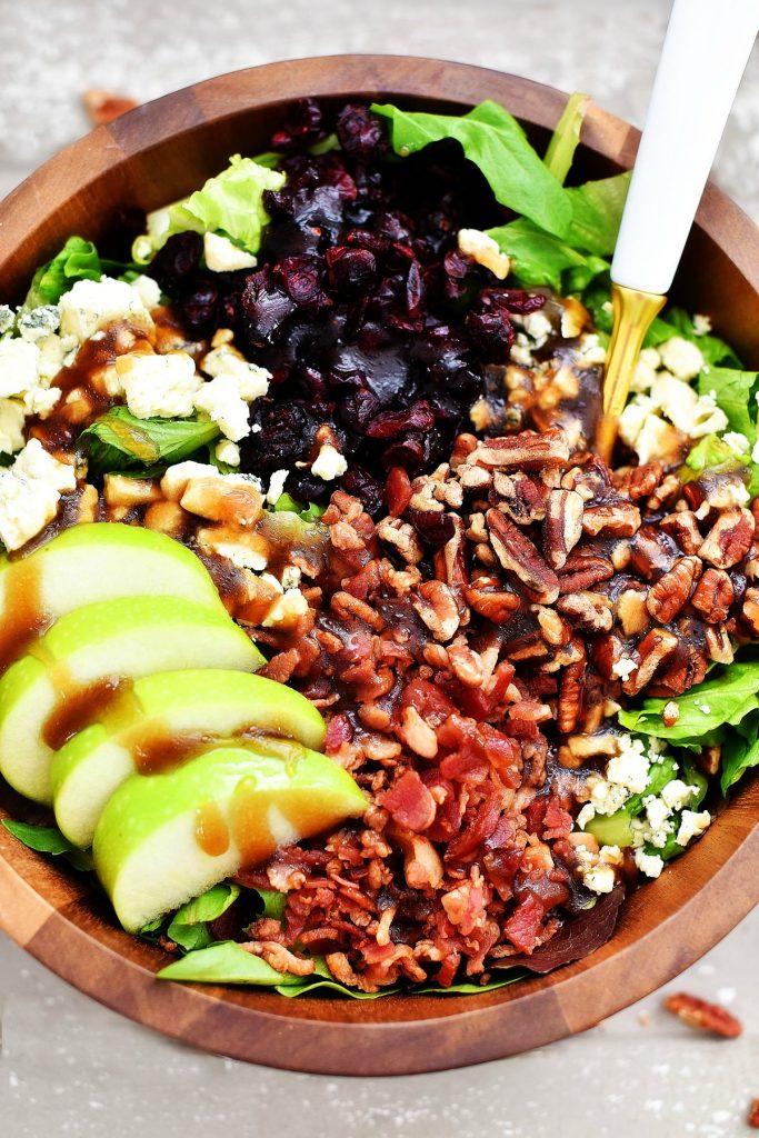 Apple Bacon Gorgonzola Salad