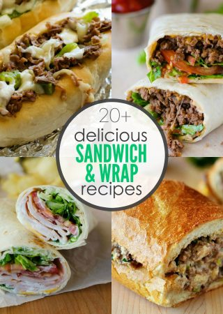 20+ Delicious Sandwich and Wrap Recipes