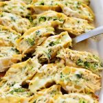 Chicken & Broccoli Alfredo Stuffed Shells