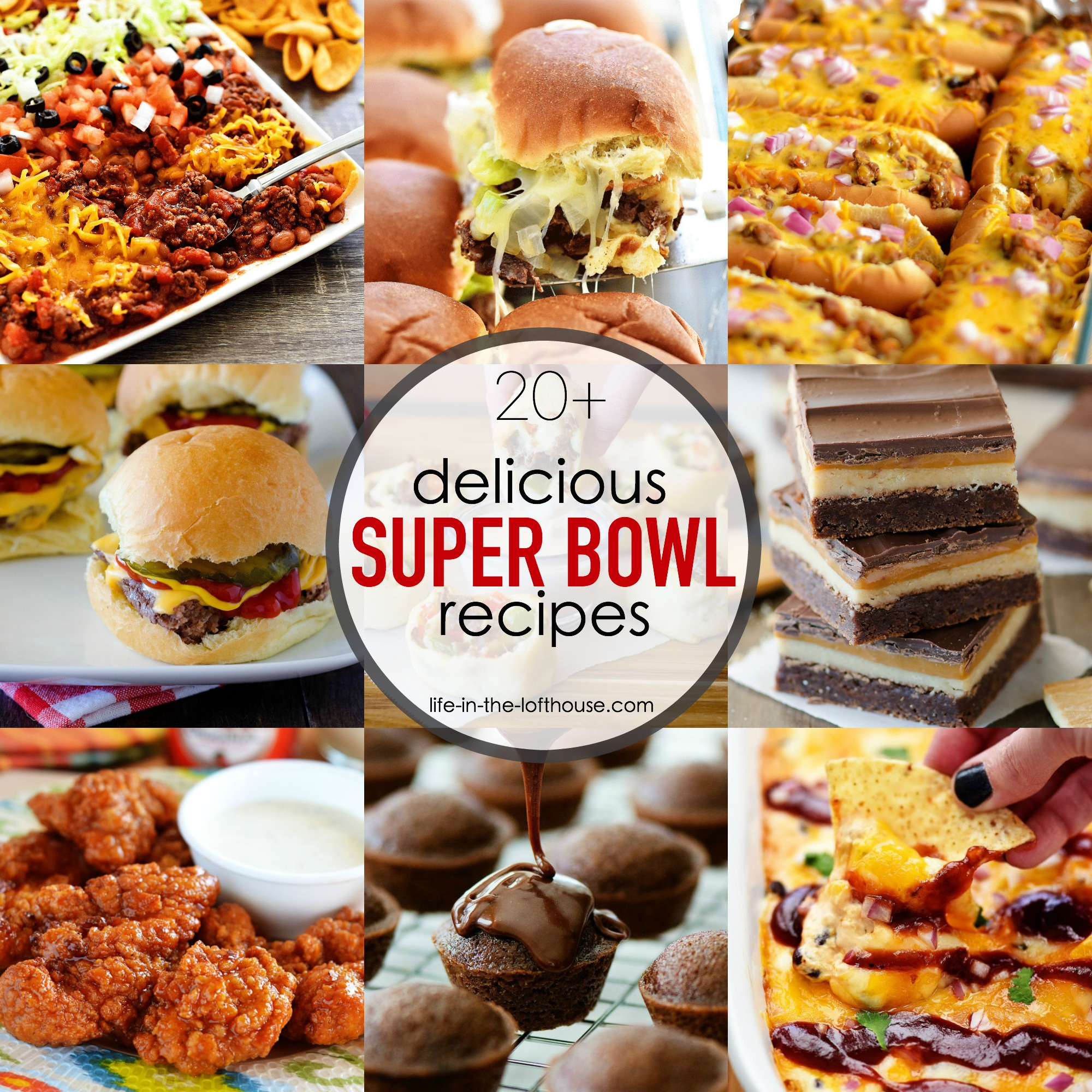 20 super bowl recipes life in the lofthouse for Super bowl appetizers pinterest