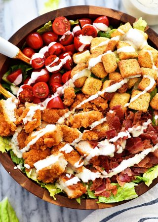 Crispy Chicken BLT Salad