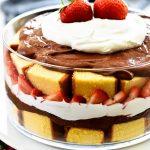 Strawberry Chocolate Pound Cake Trifle