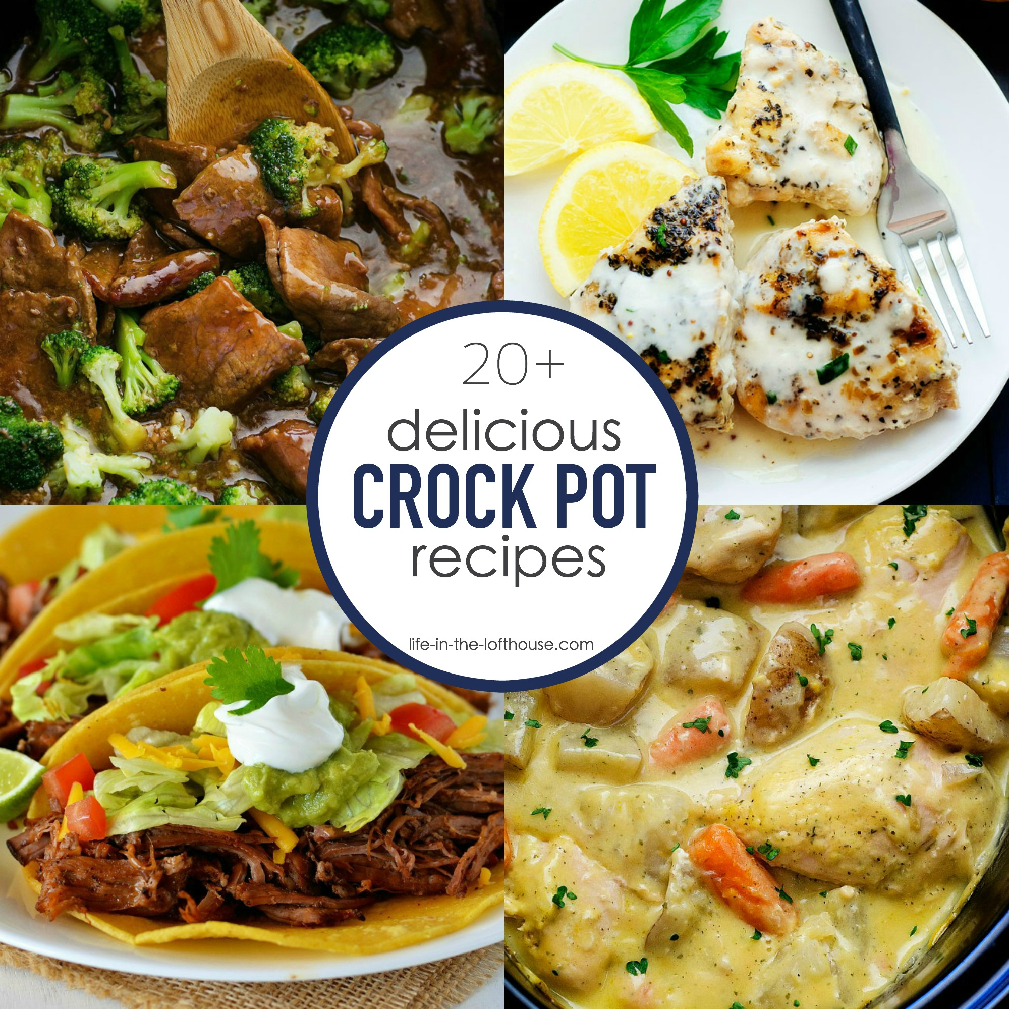 20+ Delicious Crock Pot Recipes