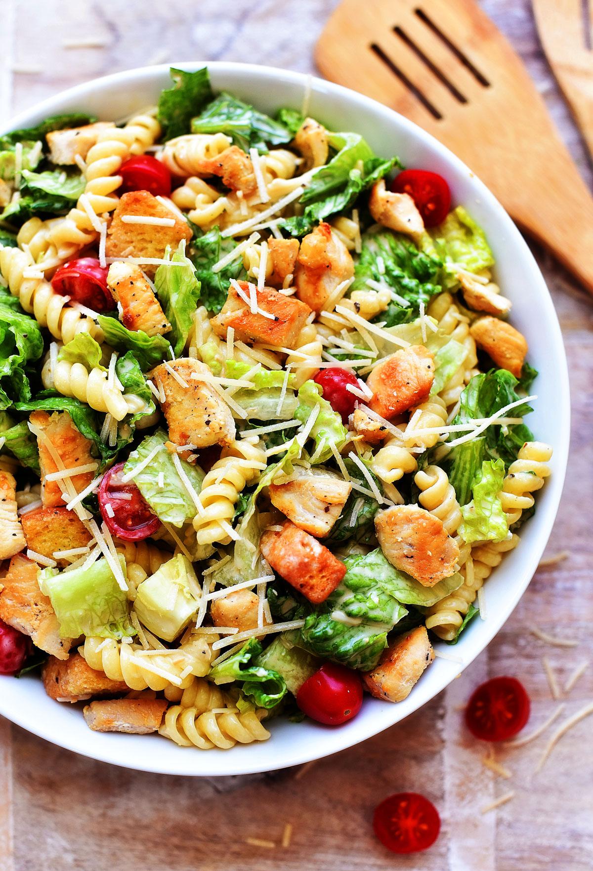 Chicken Caesar Pasta Salad Life In The Lofthouse