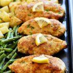 Crispy Lemon Chicken and Veggies