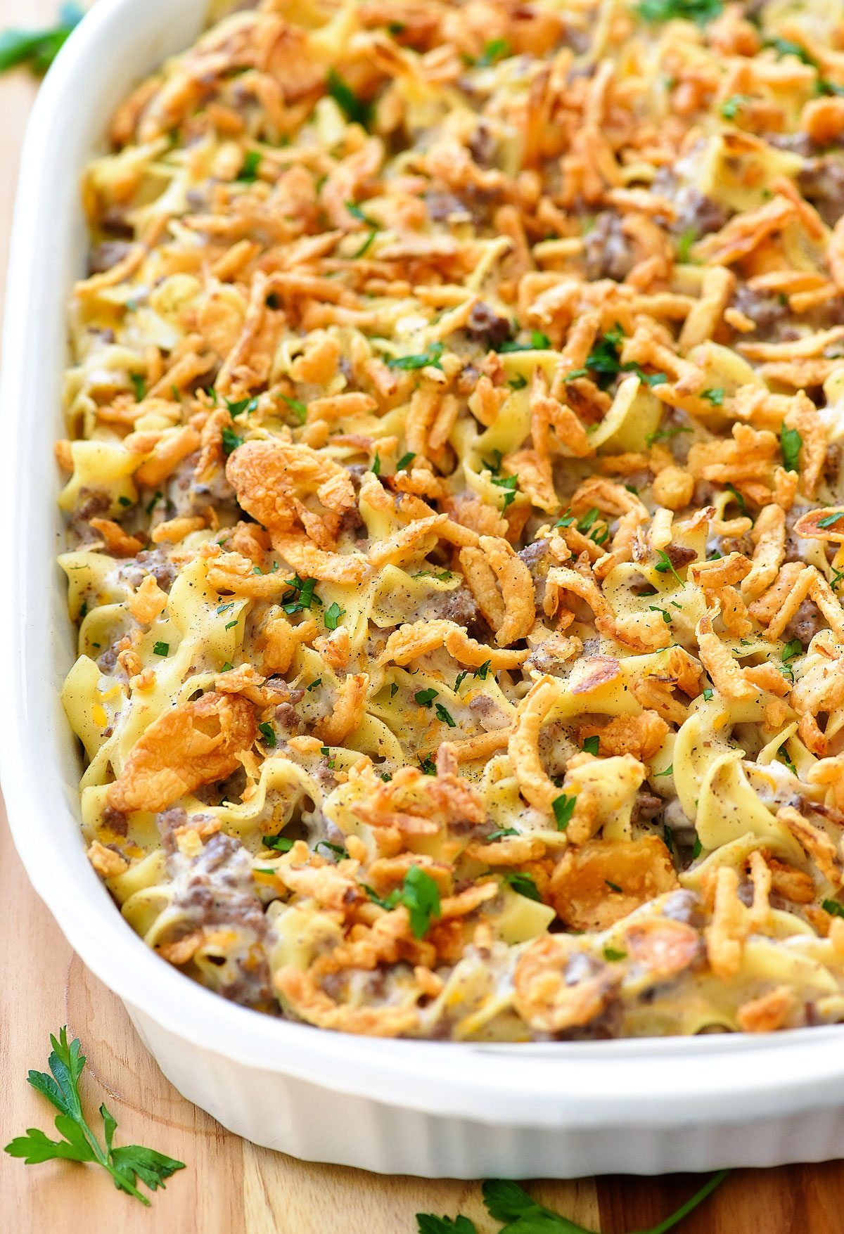 french onion beef noodle casserole