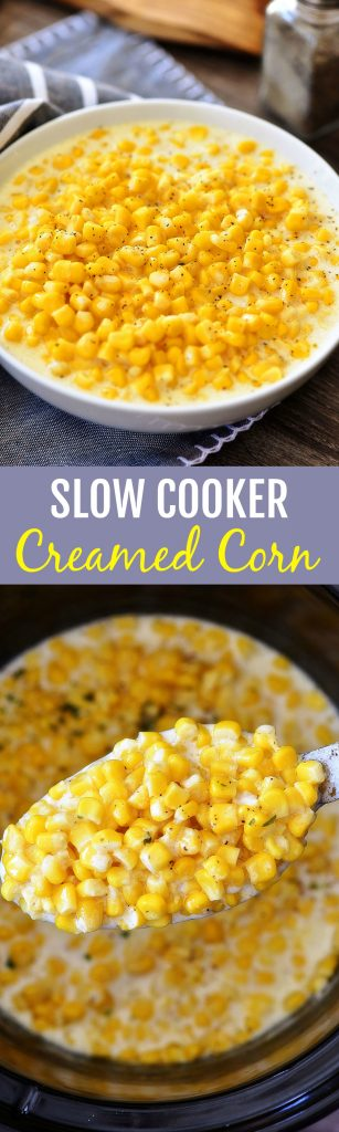 Creamed Corn cooked in the Slow Cooker. Life-in-the-Lofthouse.com