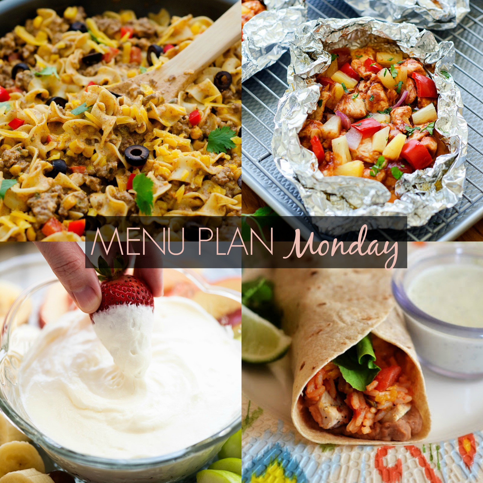 menu plan Monday 224
