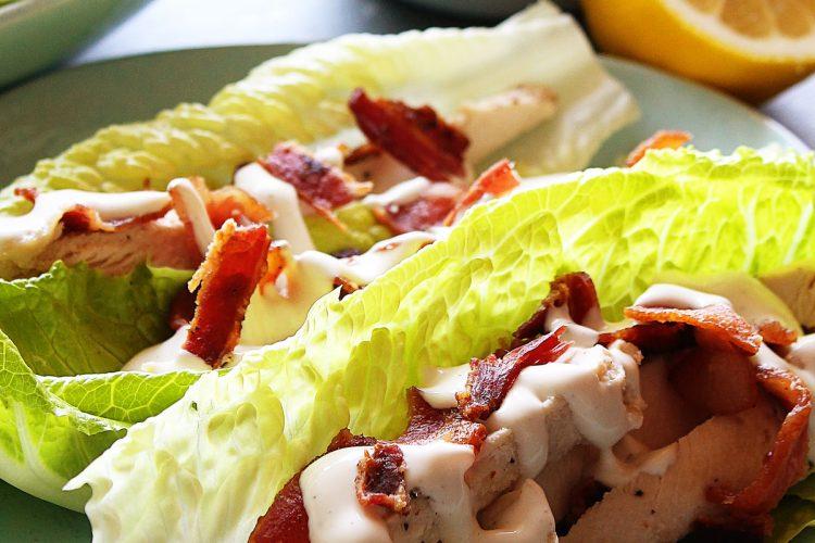 Chicken Bacon Ranch Lettuce Wraps