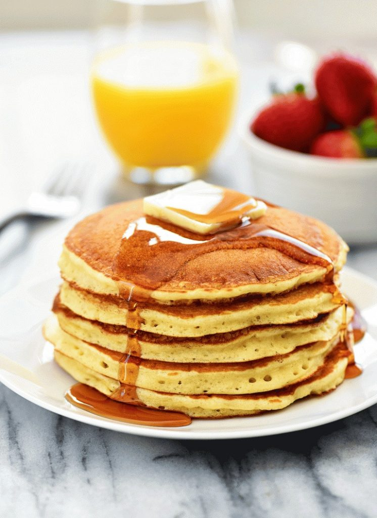 These pancakes are golden and fluffy pancakes that taste just like the ones from the popular restaurant chain IHOP. Life-in-the-Lofthouse.com