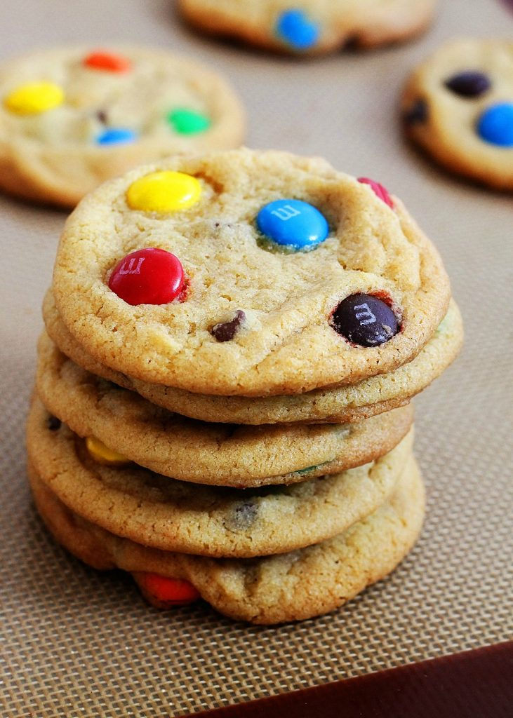 These cookies are so soft and chewy and filled with rainbow M&M's. Life-in-the-Lofthouse.com