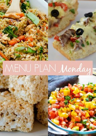 menu plan Monday #236