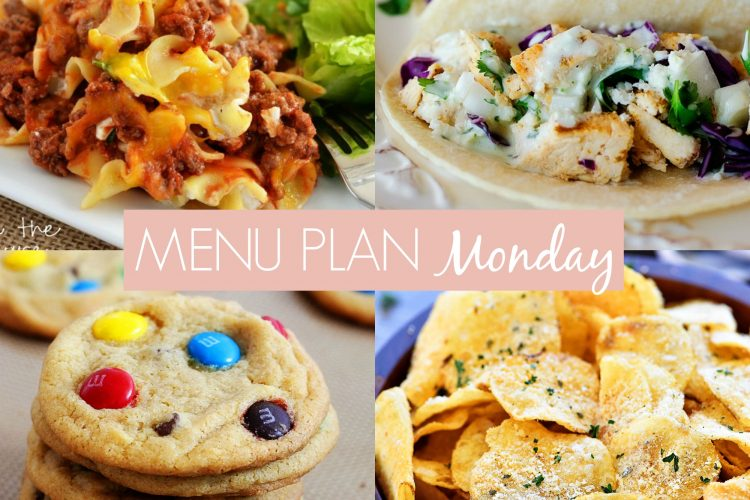 Menu Plan Monday #237