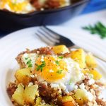 Sausage, Egg and Feta Hash