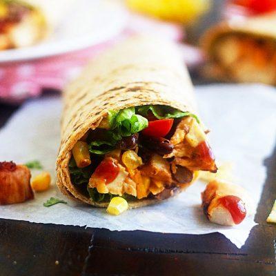 BBQ Chicken Salad Wraps