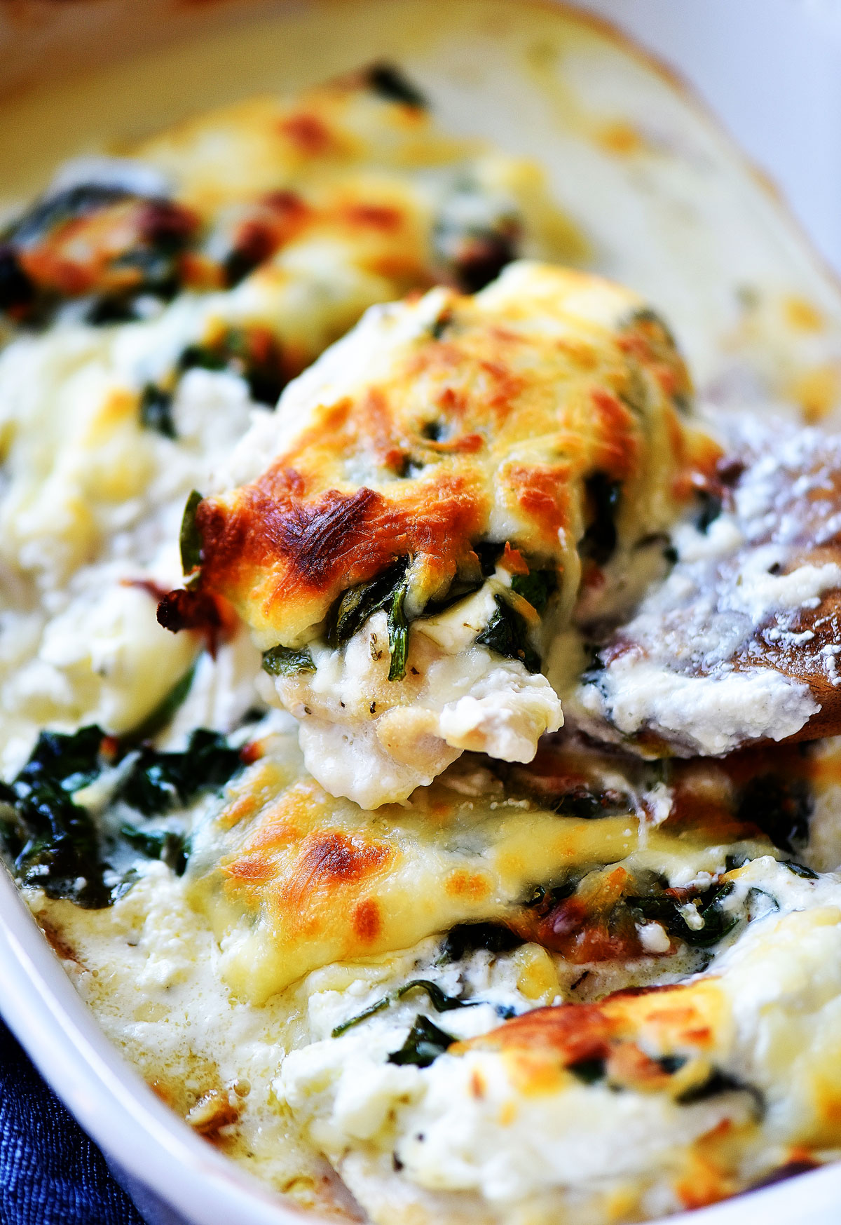 Cheesy Chicken Spinach Bake Life In The Lofthouse