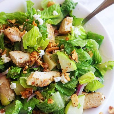 Chicken, Apple & Goat Cheese Salad