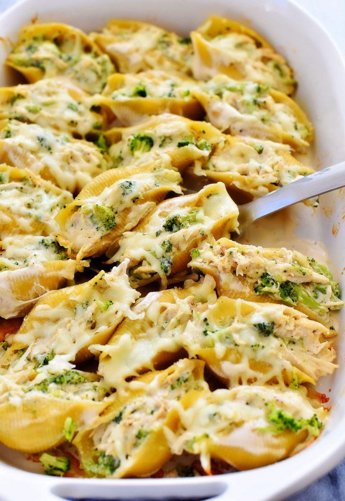 Chicken Broccoli Alfredo Shells