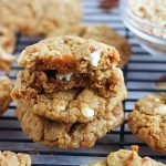 White Chocolate Chip Caramel Pretzel Cookies