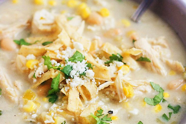 Slow Cooker Salsa Verde Chicken Soup