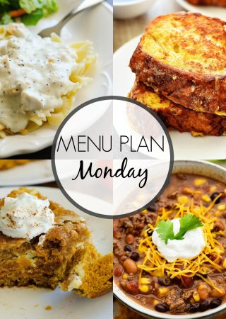 Menu Plan Monday #261