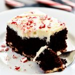 Chocolate Candy Cane Cheesecake Cake