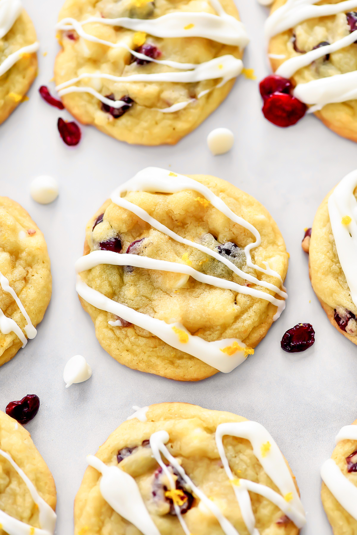 White Chocolate Cranberry Orange Cookies are sweet, soft cookies full of orange and cranberry flavors. Life-in-the-Lofthouse.com