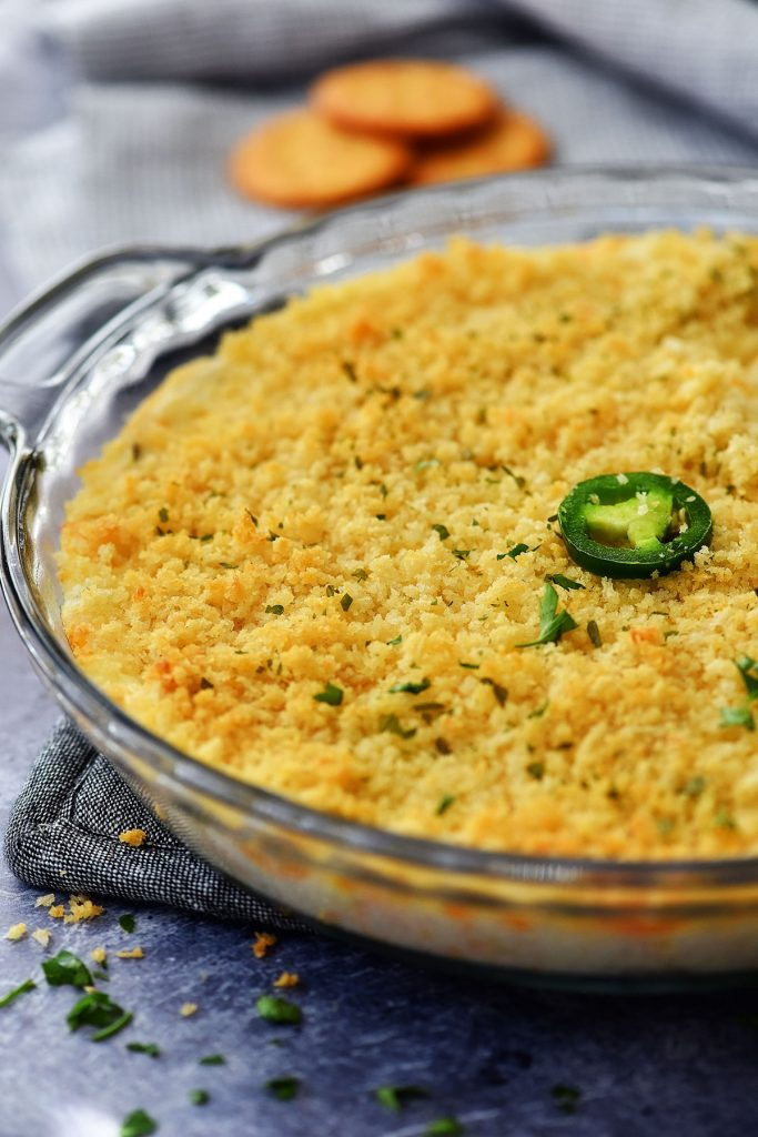 Jalapeño Popper Dip is a creamy, cheesy dip that has a small kick from the jalapeño. Life-in-the-Lofthouse.com