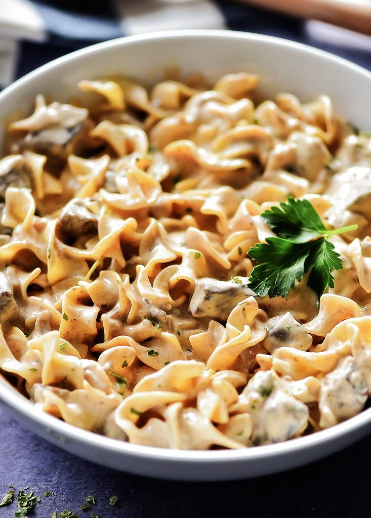 Slow Cooker Beef Stroganoff is a creamy, flavorful dish full of noodles and tender beef. Life-in-the-Lofthouse.com